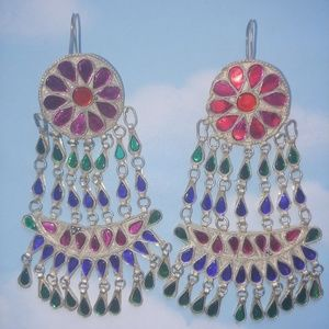 Fabulous Vintage Pair of Far East Earrings